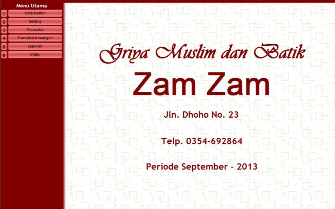 Aplikasi Point of Sales Toko Zam Zam Kediri