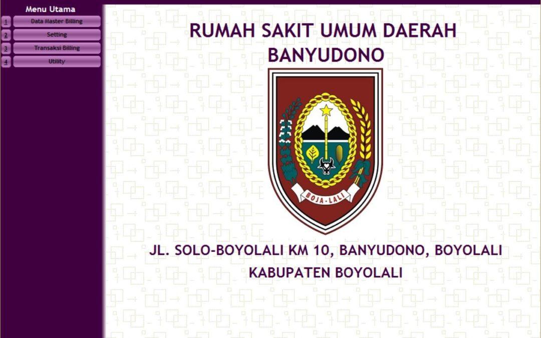 Sistem Informasi Administrasi Pasien, Billing System dan Inventory Farmasi RSUD Banyudono, Boyolali