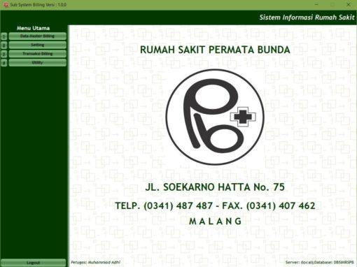 Sistem Informasi Administrasi Pasien, Billing System dan Inventory Farmasi RS Permata Bunda Malang