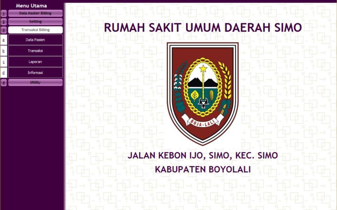 Sistem Informasi Administrasi Pasien, Billing System dan Inventory Farmasi RSUD Simo, Boyolali