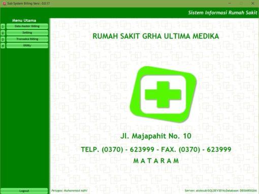 Sistem Informasi Administrasi Pasien, Billing System dan Inventory Farmasi RS Grha Ultima Medika Mataram